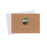 Pin Badge Christmas Card (Pack of 4)