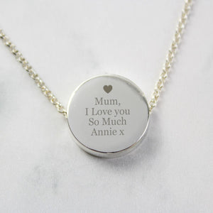 Personalised Silver-Plated Necklace