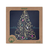 Premium Gold Tree Christmas Card (Pack of 10) - Welsh