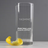 Personalised Sober October Glass