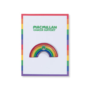 Macmillan Rainbow Pin Badge