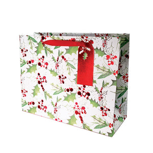 Jolly Holly Gift Bag Large Square