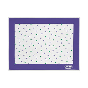 Coffee bean print tea towel