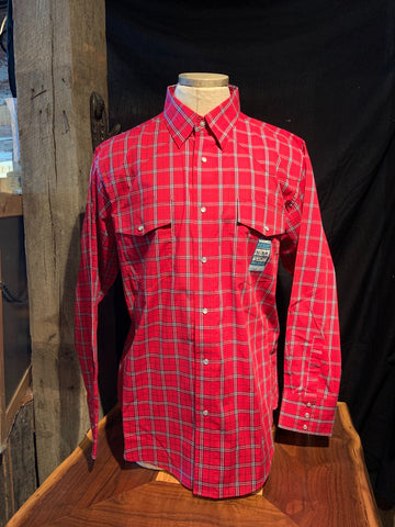 Authentic Wrangler Red Plaid MWR396R