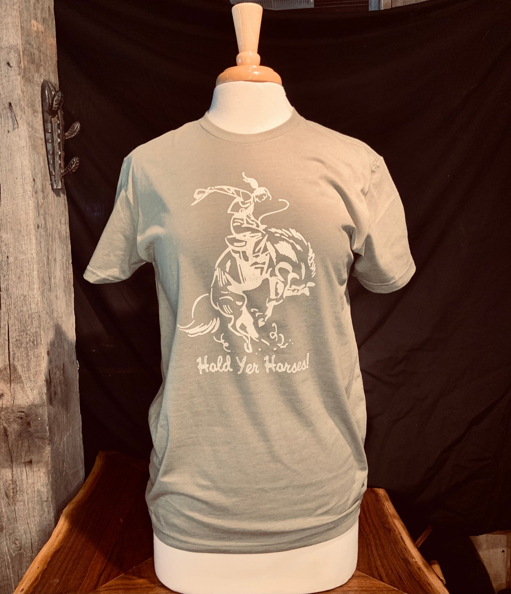 """Hold yer horses"" Cowgirl T Shirt"