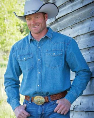 Wyoming Traders Denim Long Sleeve Shirt