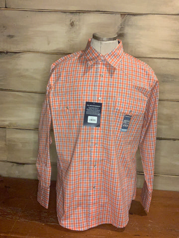 Authentic Wrangler Orange Plaid MWR3990