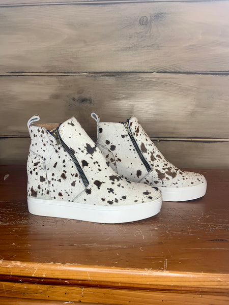 Holly Hightop Hair-on Wedge Sneaker