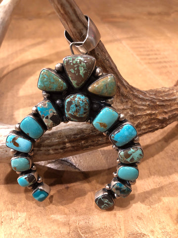 Authentic Turquoise Naja Pendant