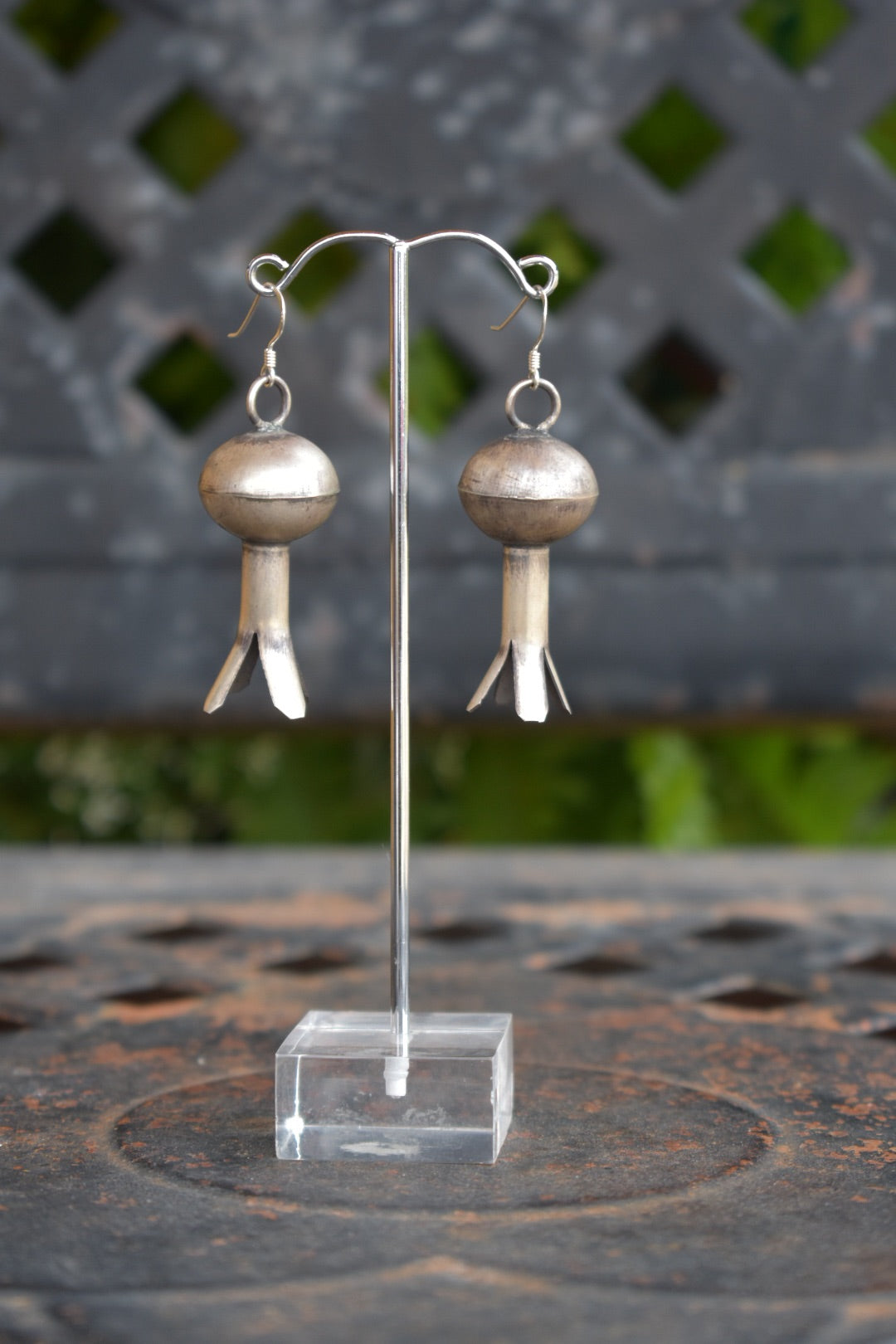 Authentic Sterling Silver Pomegranate Earrings