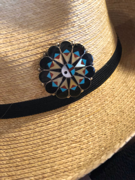 Authentic Zuni Inlay Pin