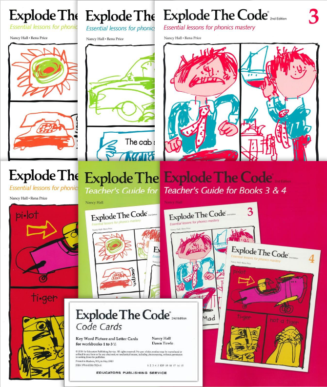 Explode the Code, Book 1-4