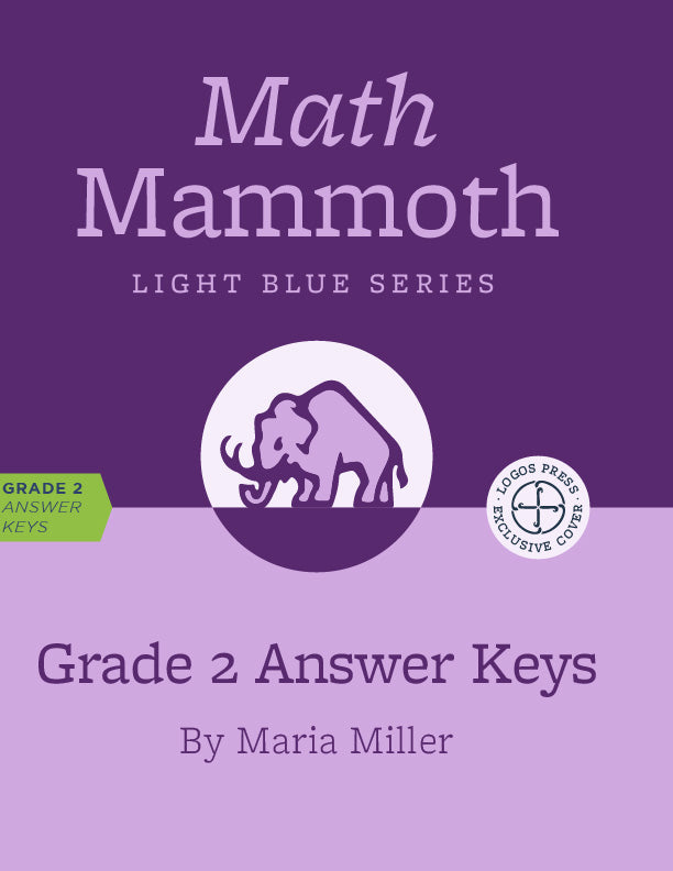 Math Mammoth – Grade 2 Answer Keys