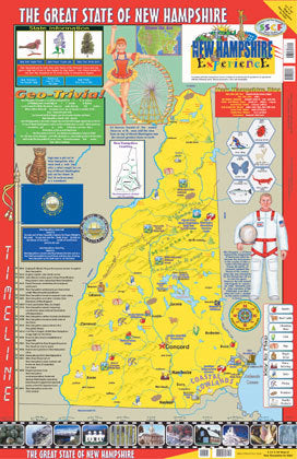 New Hampshire Wall Map