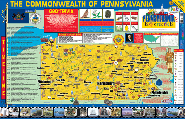 Pennsylvania Wall Map