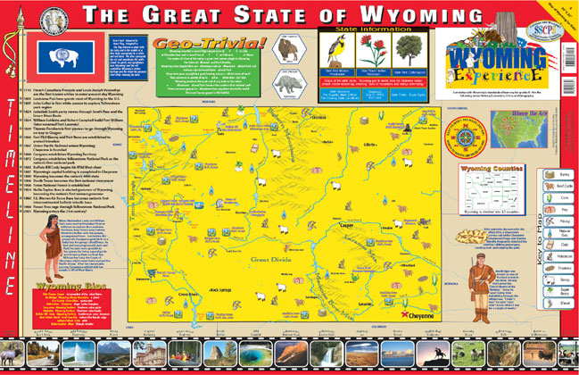 Wyoming Wall Map