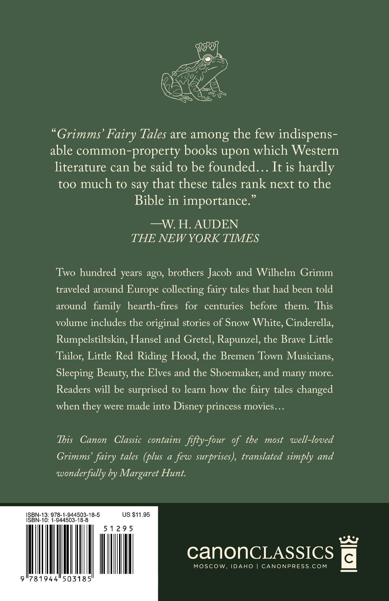The Complete Best-Loved Fairy Tales of the Brothers Grimm
