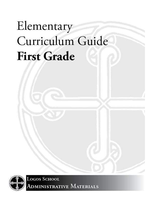 Elementary Curriculum Guide – 1st Grade (Download)