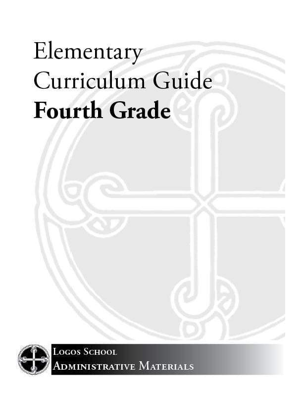 Elementary Curriculum Guide – 4th Grade (Download)