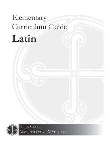 Elementary Curriculum Guide – Latin (Download)
