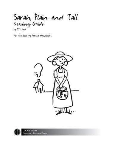 Sarah, Plain and Tall – Reading Guide (Download)