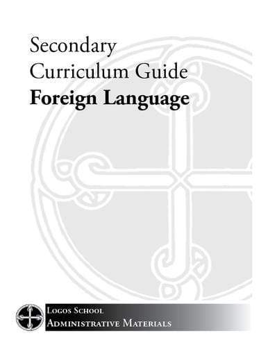 Secondary Curriculum Guide – Foreign Language (Download)
