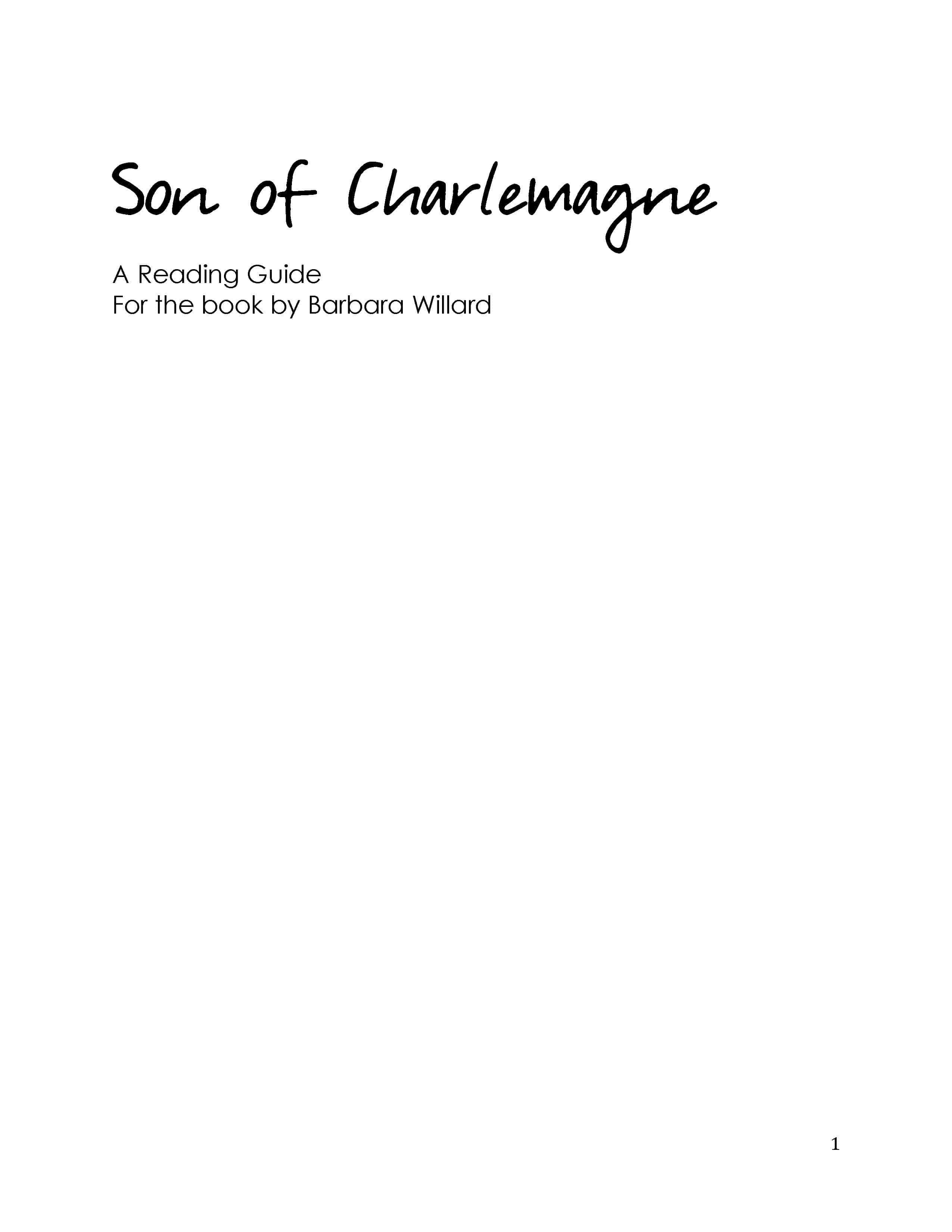 Son of Charlemagne – Reading Guide (Download)