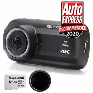 DRV-A601W Travel ProPack 4K Dash Cam & 128GB SDXC Card & Polarised Filter