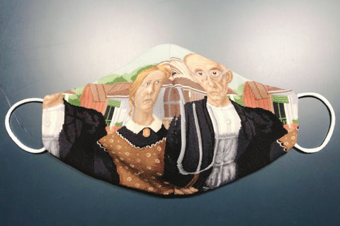 Art Face Mask - American Gothic
