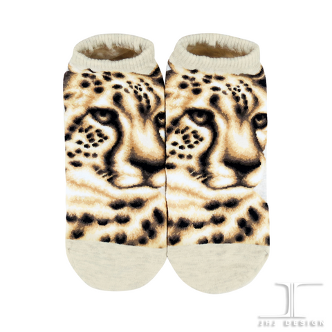 Wild Life Ankles - Snow Leopard