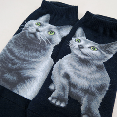 Cat Ankles - Russian Blue Navy