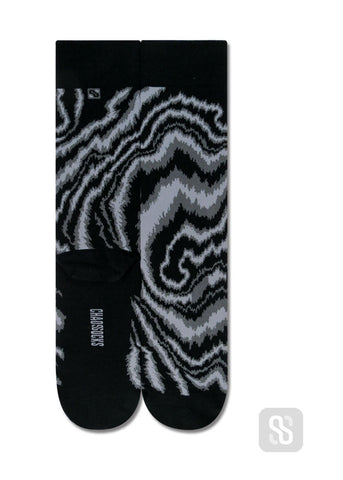 Chaossocks - Marble-men's black grey