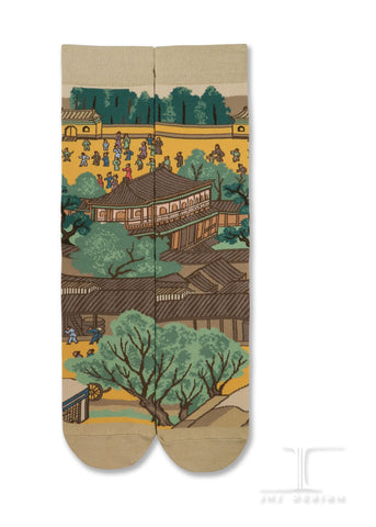 Chinese Masterpiece - Along the River During the Qingming Festival- Rainbow bridge from QingMing river painting(3 of 4)