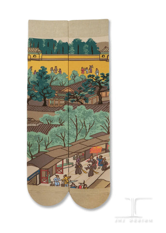Chinese Masterpiece - Along the River During the Qingming Festival- Rainbow bridge from QingMing river painting(4 of 4)