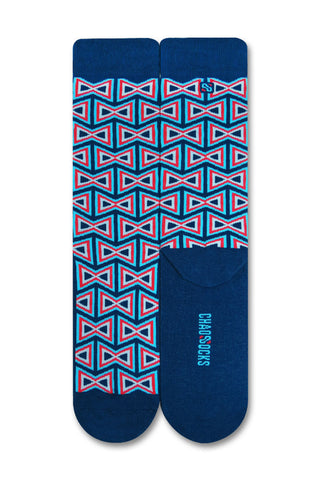 Chaossocks - Art Deco - Bowtie Navy