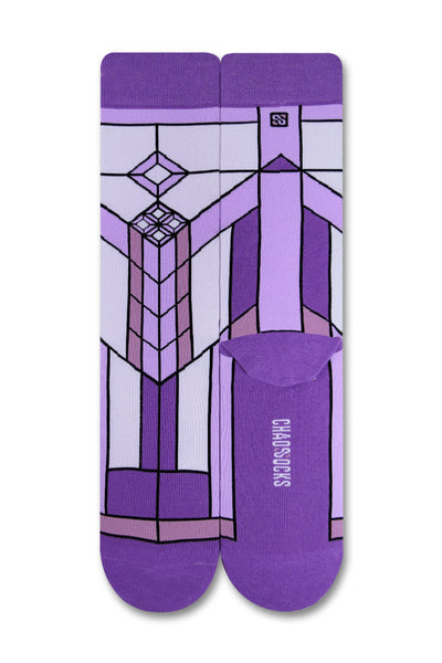 Chaossocks - Art Deco - Stain Glass Lavender