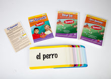 Load image into Gallery viewer, Your Baby Can Speak Spanish 3 disc Set (2 DVDs 1 CD & 104 language cards)