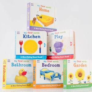 6 Mini Sliding Board Books