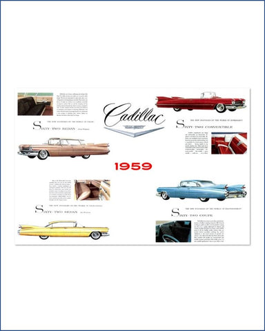 1959 Cadillac Brochure Metal Sign