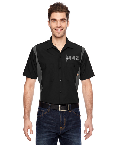 Oldsmobile 442 (Block numbers 68-71) Dickies Regular Fit Short Sleeve Two-Tone Work Shirt