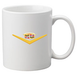 Cadillac coffee mugs- Vintage Badges and CLC Regions