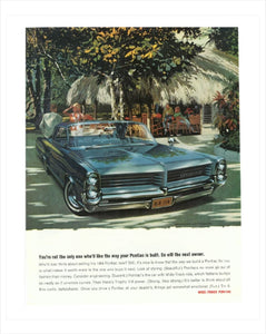 1964 Pontiac Bonneville Coupe GM ad Poster, Banner or Metal sign