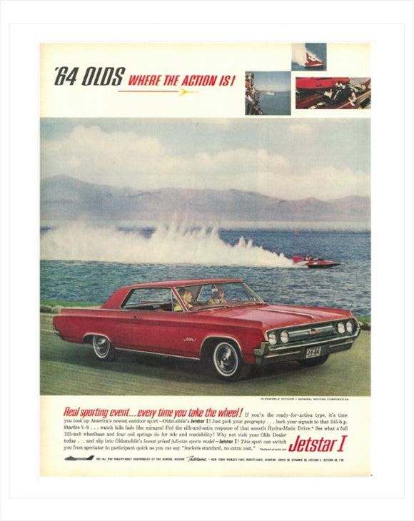 1964 Oldsmobile Jetstar GM ad Poster, Banner or Metal sign