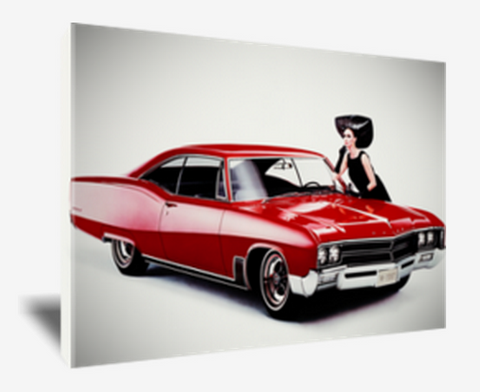 canvas print,buick