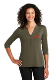 Buick SCRIPT Ladies Henley Shirt