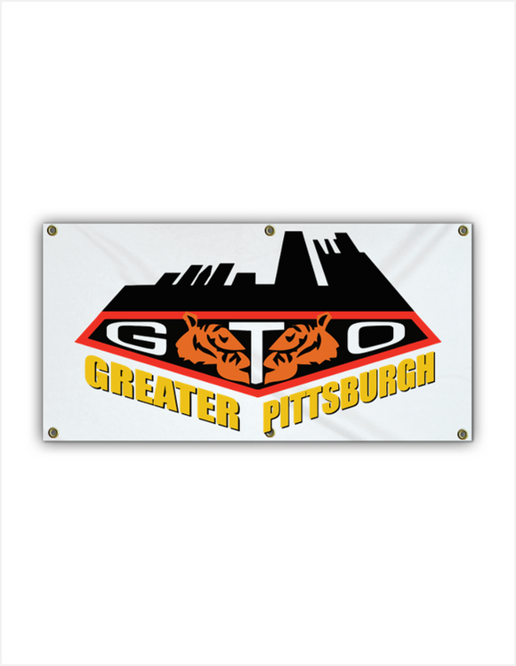 GREATER PITTSBURGH GTO CLUB Vinyl Garage Banner