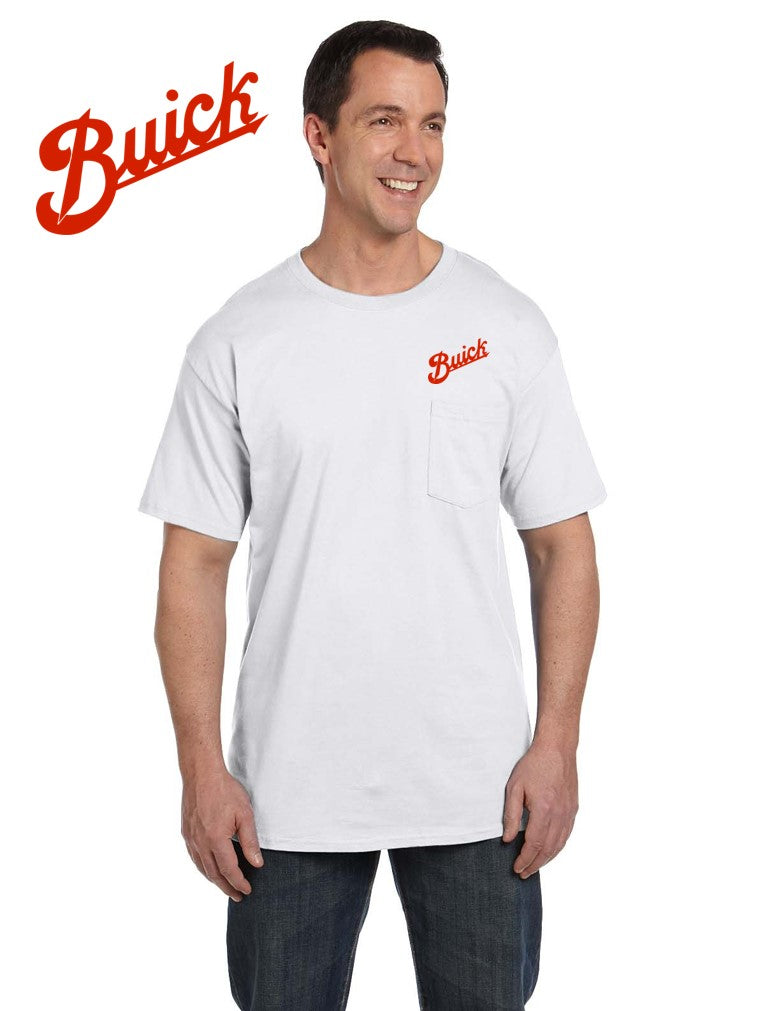 Buick 1913 Script Pocket T-shirt (embroidered logo on front)