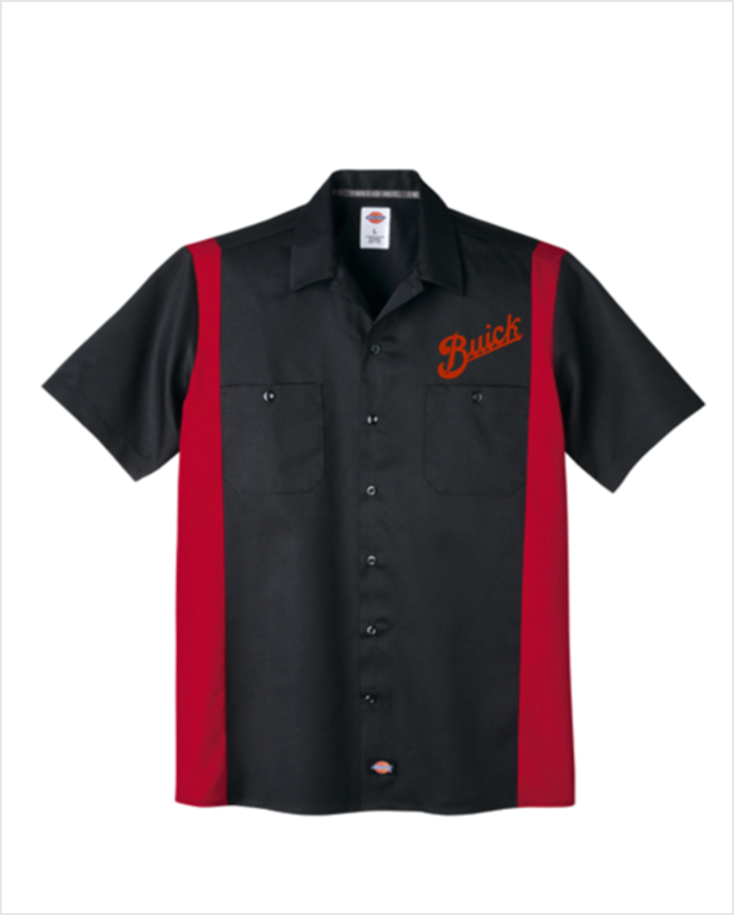 Buick 1913 Script Dickies Regular Fit Short Sleeve Two-Tone Mechanics Shirt