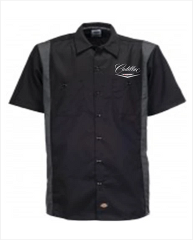 Cadillac 1950s Dickies Regular Fit Short Sleeve Two-Tone Mechanics Shirt
