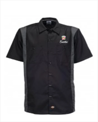 Cadillac 1980s Dickies Regular Fit Short Sleeve Two-Tone Work Shirt